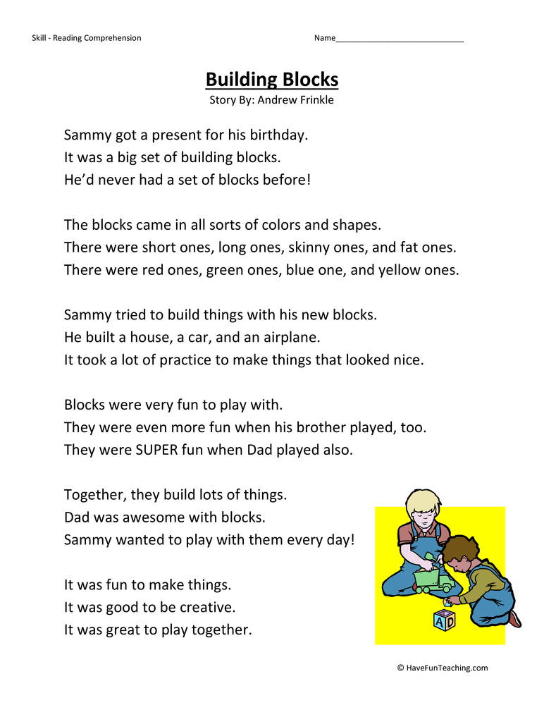 Second Grade Reading Comprehension Worksheets- Page 5 of 25 - Have Fun ...