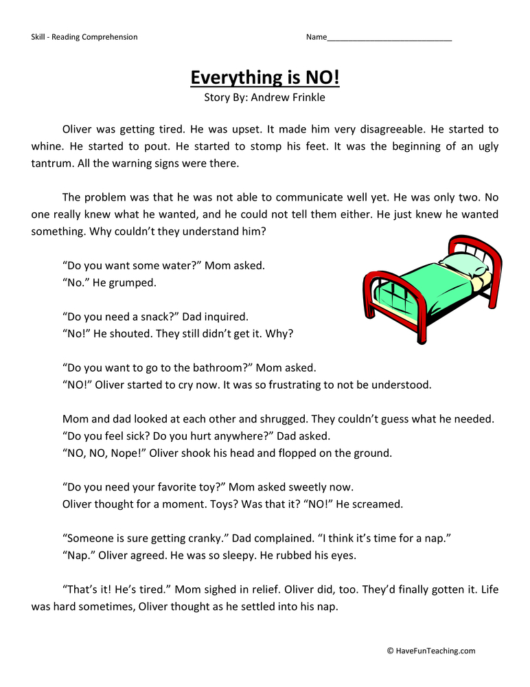 Third Grade Reading Comprehension Worksheets - Page 3 of 16 - Have Fun ...