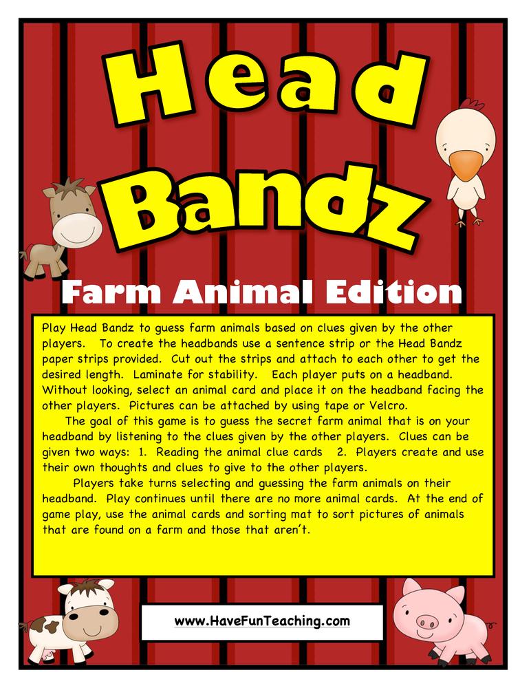Farm Animals Activity