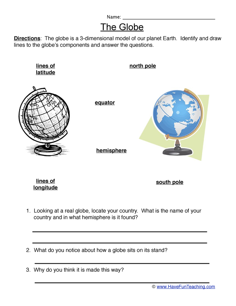 Printables Map And Globe Skills Worksheets map and globe skills worksheets for kindergarten 1000 ideas globes worksheet have fun teaching