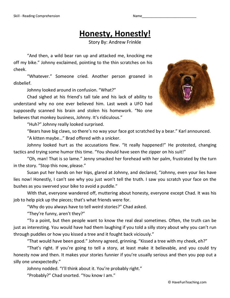 Wonderful Worksheet In Reading Comprehension Photos Free – Fourth Grade Reading Comprehension Worksheets