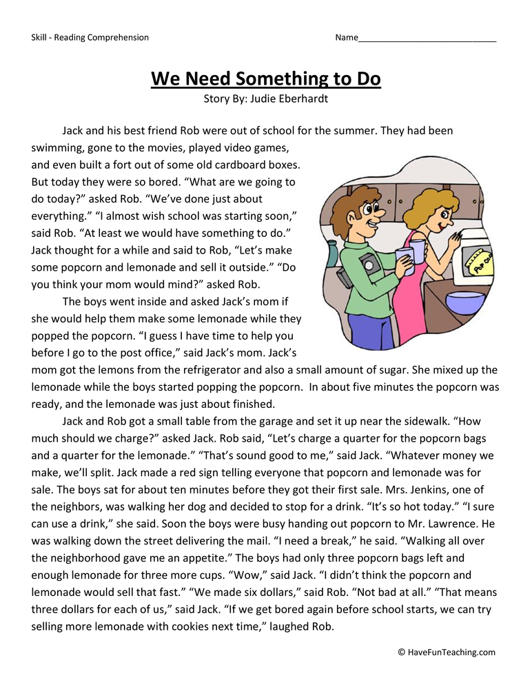 Fourth Grade Reading Comprehension Worksheets - Page 4 of ...