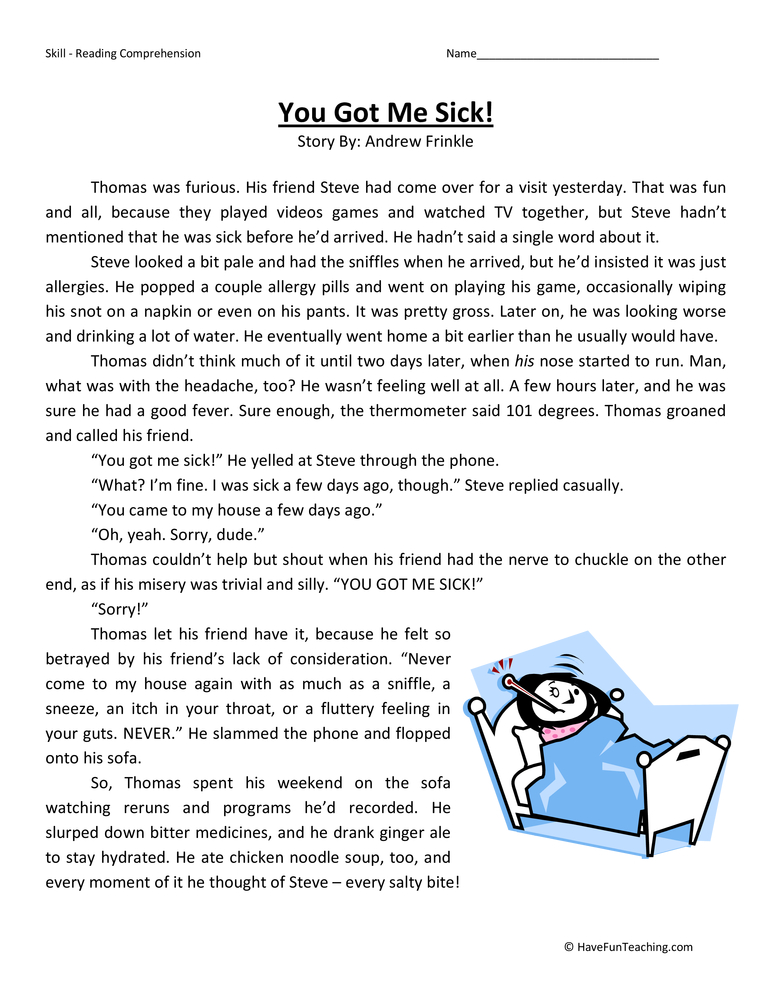 Fourth Grade Reading Comprehension Worksheet By Have Fun