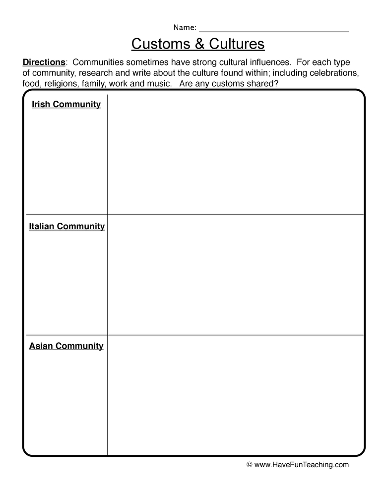 Family Worksheets : Have Fun Teaching