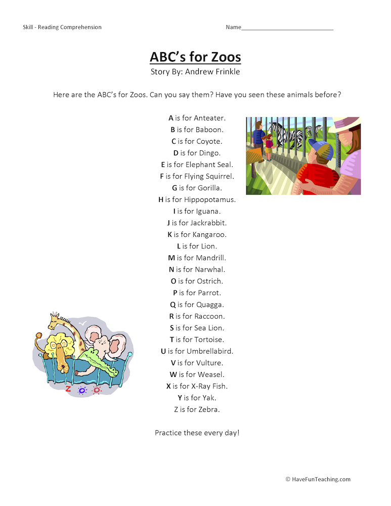 First Grade Reading Comprehension Worksheets – First Grade Reading Comprehension Worksheets