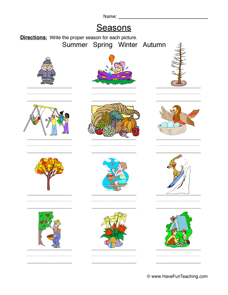 classifying seasons worksheet 2