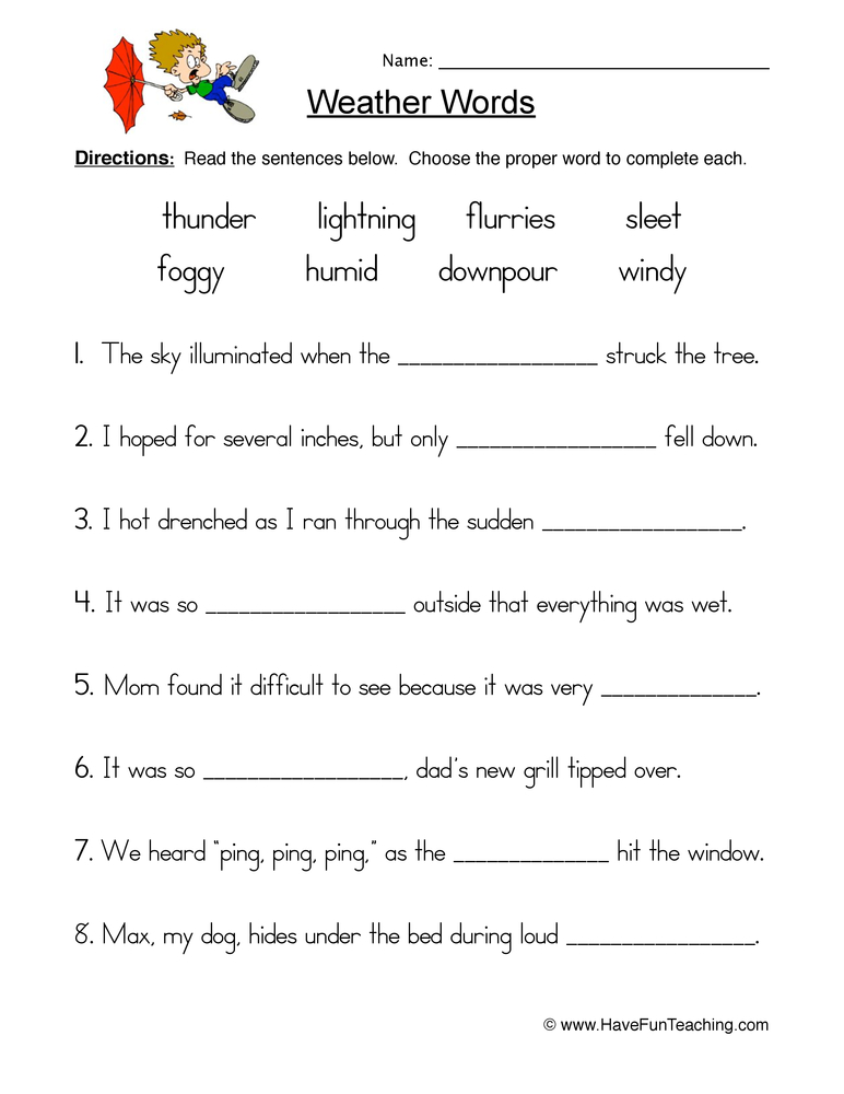 Printables Science Weather Worksheets science worksheets on weather intrepidpath page 4 of 5 have fun teaching