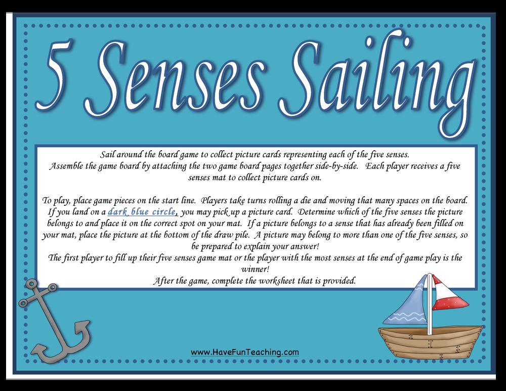 five senses activity 2