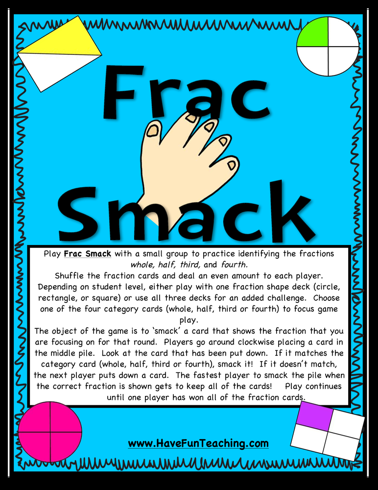 Frac Smack Fractions Activity