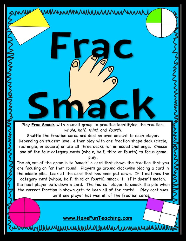 Frac Smack Fractions Activity