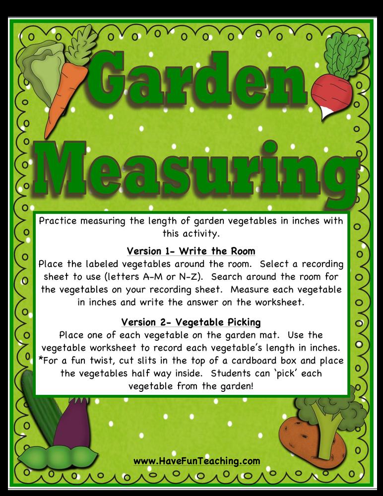 garden measuring activity