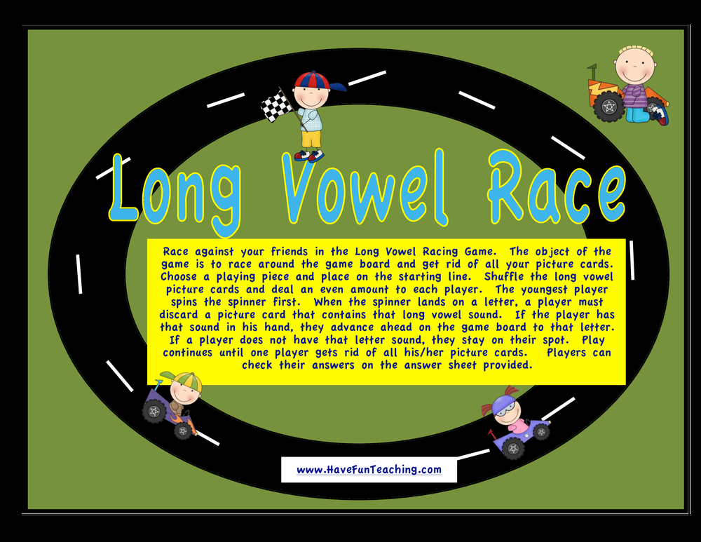 long vowels activity