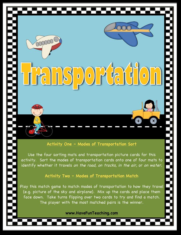 Modes of Transportation Activity