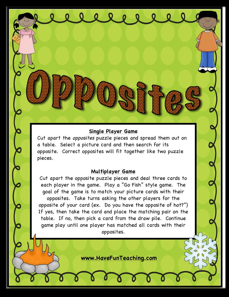 opposites activity