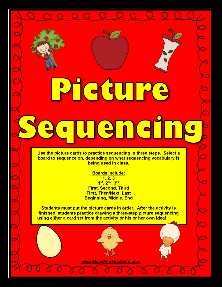 sequencing pictures activity