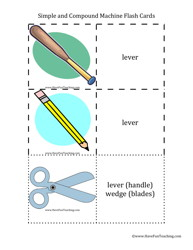 simple and compound machines flash cards