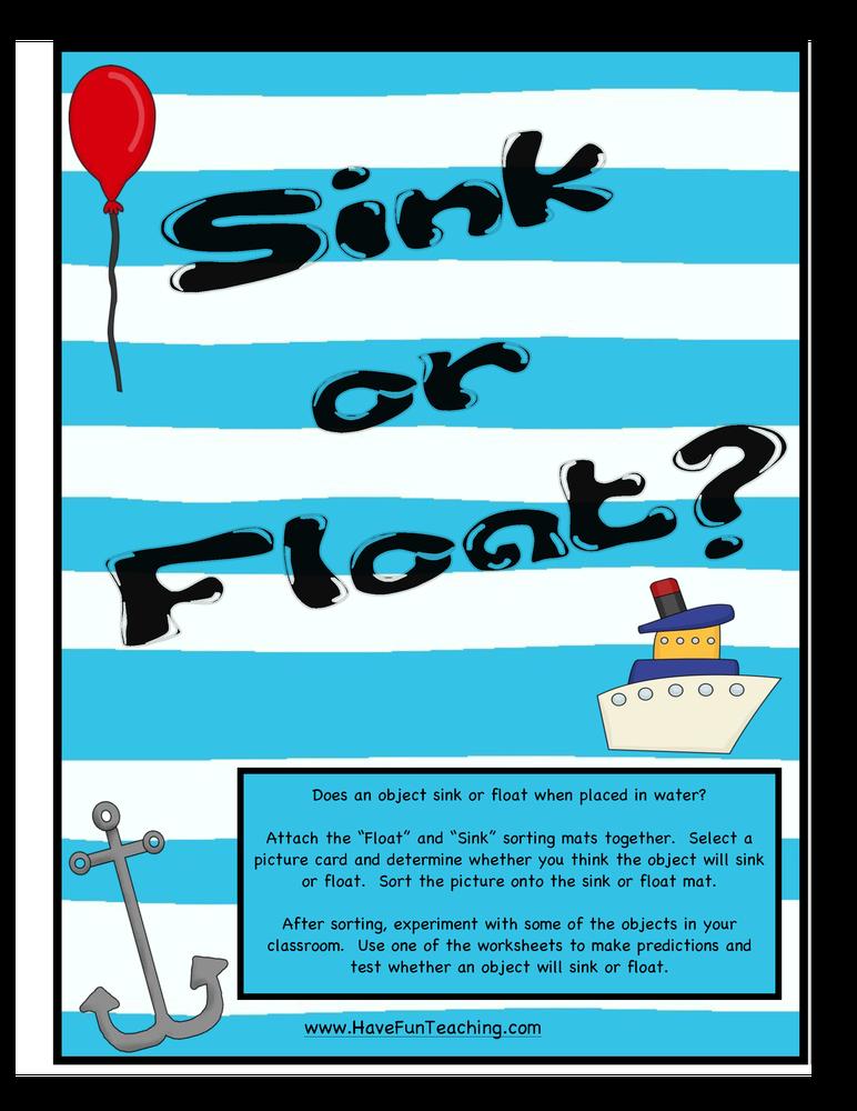 Sink Or Float Activities Have Fun Teaching
