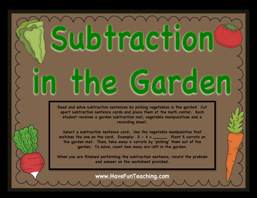 Math Subtraction Activities Resources