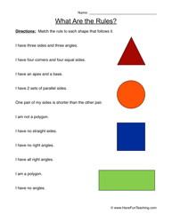 attributes worksheet 1