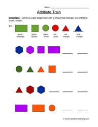 attributes worksheet 2