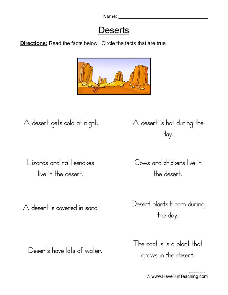 Deserts Theme - Lesson Plans, Thematic Units, Printables ...