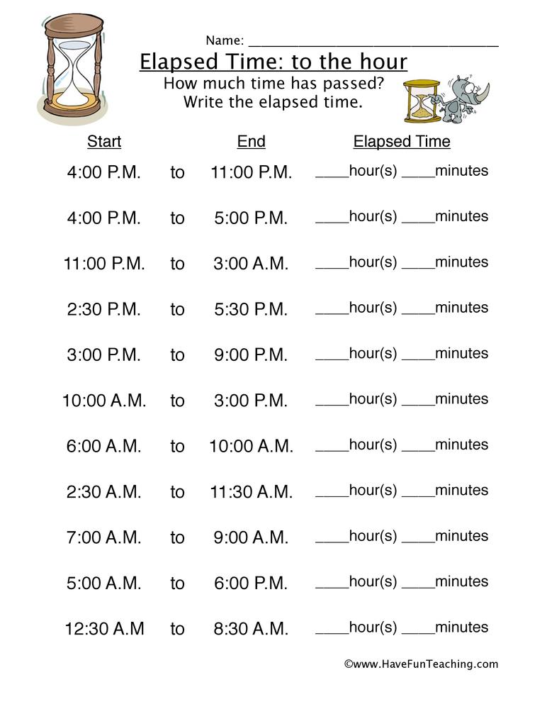 Telling Time Worksheets – Teaching Time Worksheets