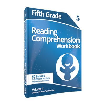 fifth grade reading comprehension workbook volume 1 400x400 Fifth Grade Comprehension Worksheets