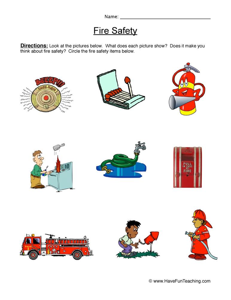 Fire Safety Worksheet