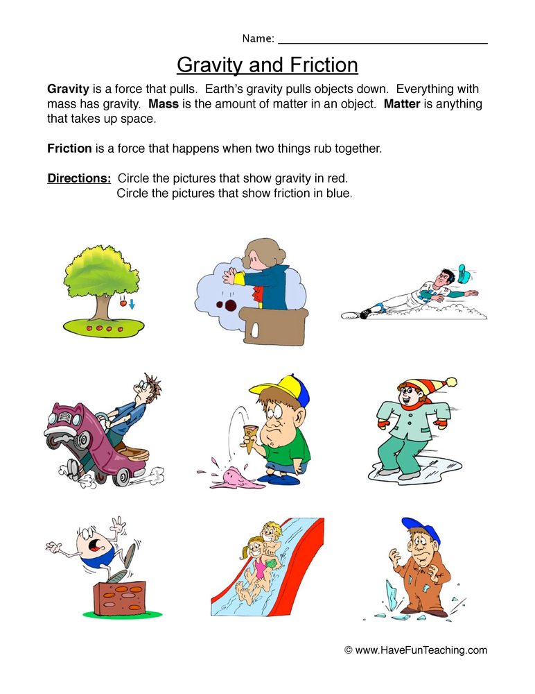 Force and Motion Worksheets - Page 2 of 2 - Have Fun Teaching