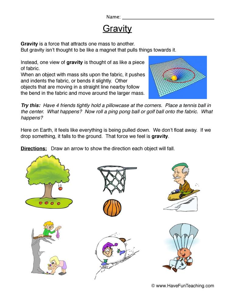 Gravity Worksheet – Falling