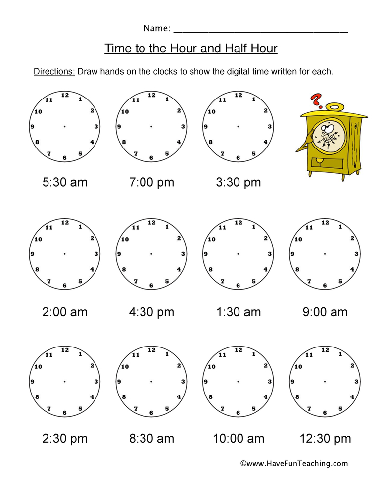 telling time worksheets page 3 of 5 have fun teaching. Black Bedroom Furniture Sets. Home Design Ideas