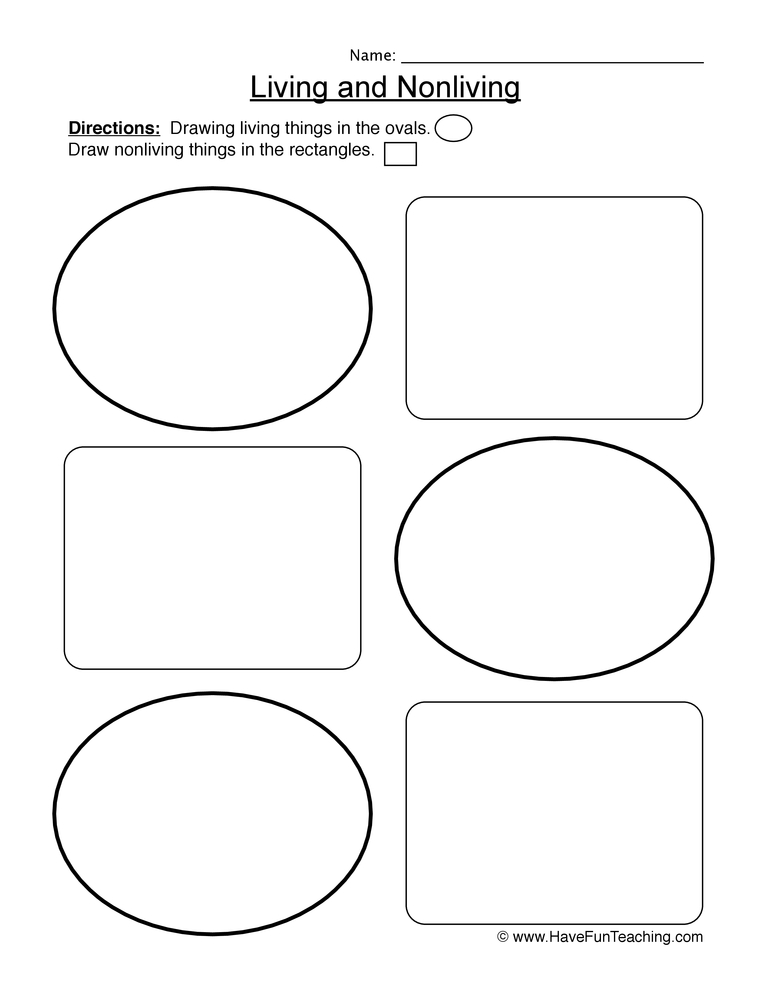 living things worksheet 2