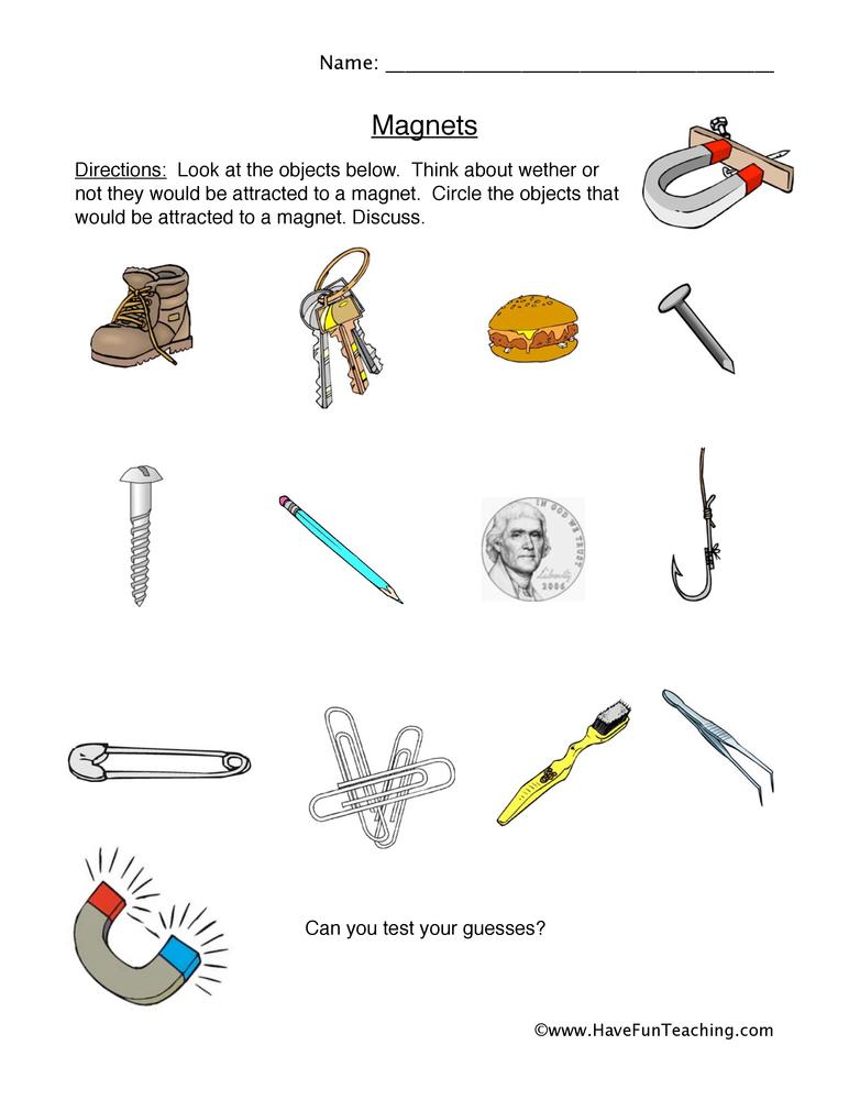 magnets worksheet 2