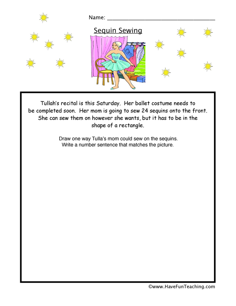 Word Problems Worksheets Have Fun Teaching