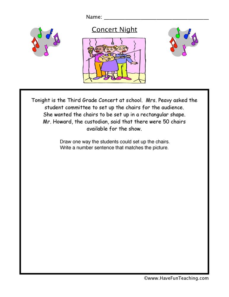 Concert Multiplication Worksheet