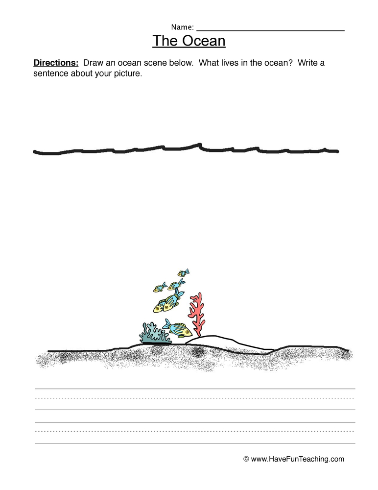 ocean worksheet 2