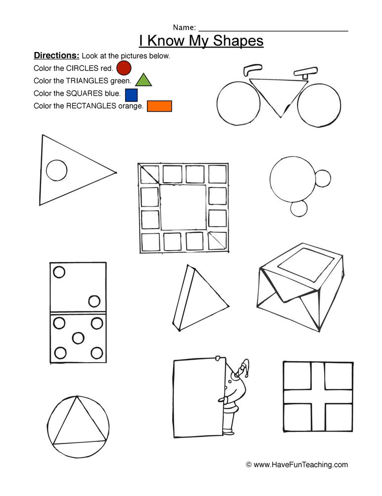shapes worksheet 2