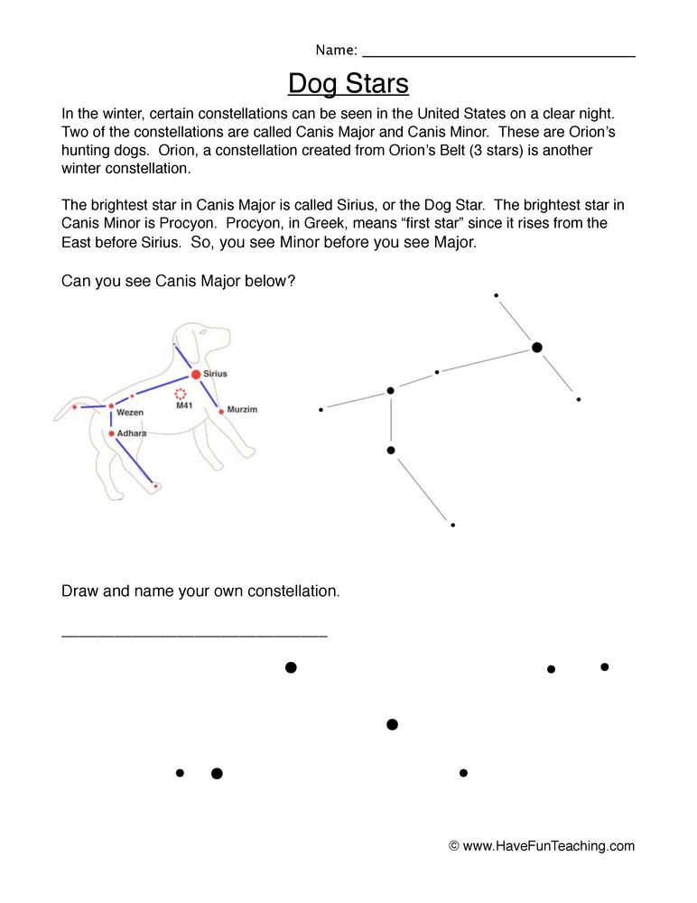 stars worksheet 2