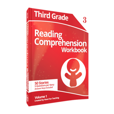 third grade reading comprehension workbook volume 1 400x400 Third Grade Comprehension Worksheets
