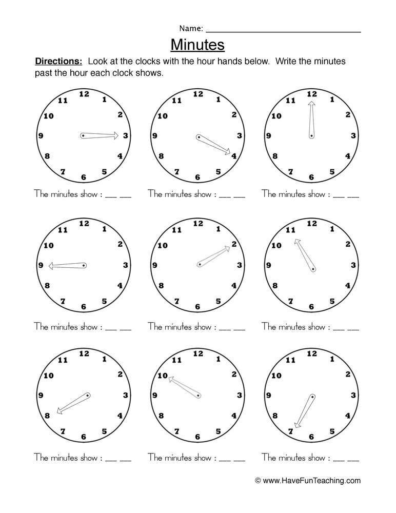 Time worksheets to 5 minutes math worksheets time to five minutes telling time ibookread Read Online