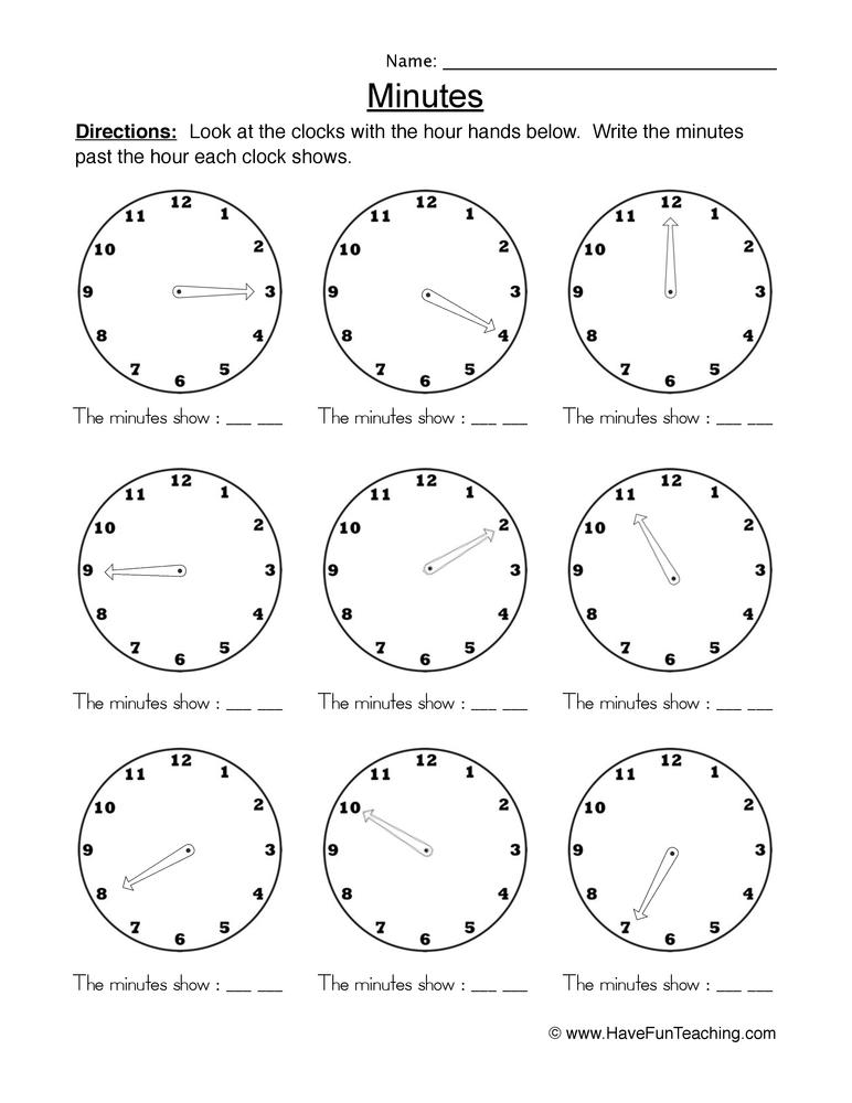 time five worksheet 1