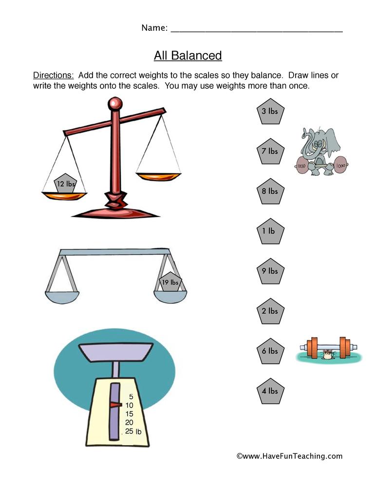 balance worksheet