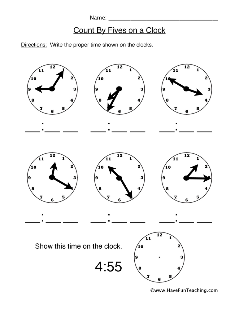 Telling Time Worksheets - Have Fun Teaching