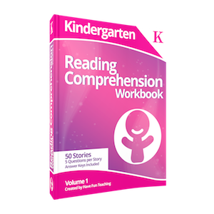 Kindergarten Reading Comprehension Workbook Volume 1