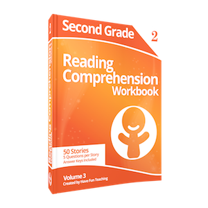 Second Grade Reading Comprehension Workbook Volume 3 USB