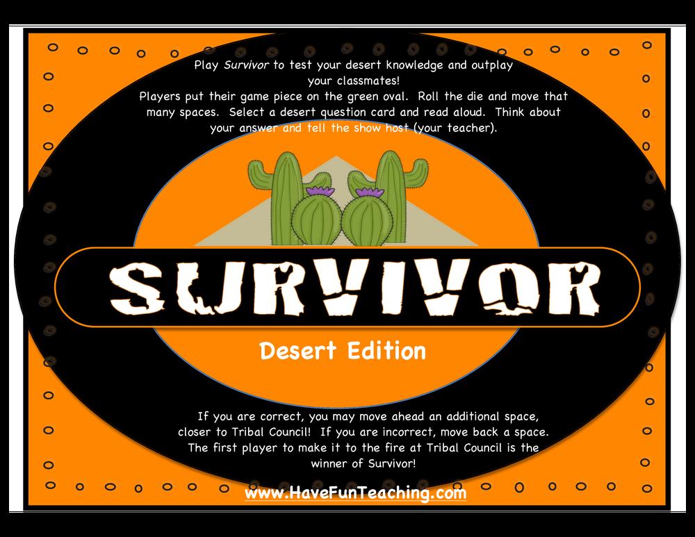 survivor activity desert edition