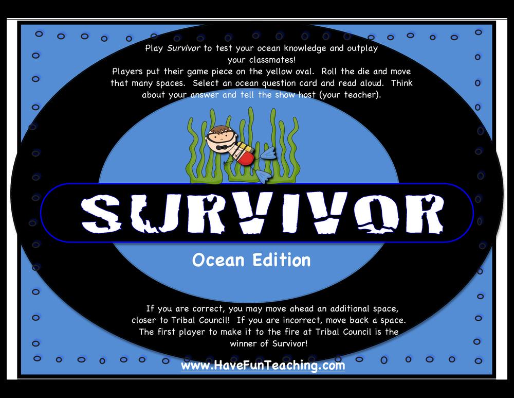 survivor activity ocean edition