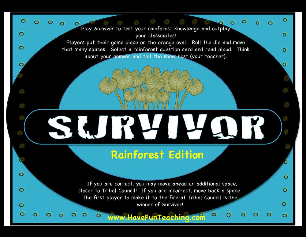 Survivor Activity Rainforest Edition