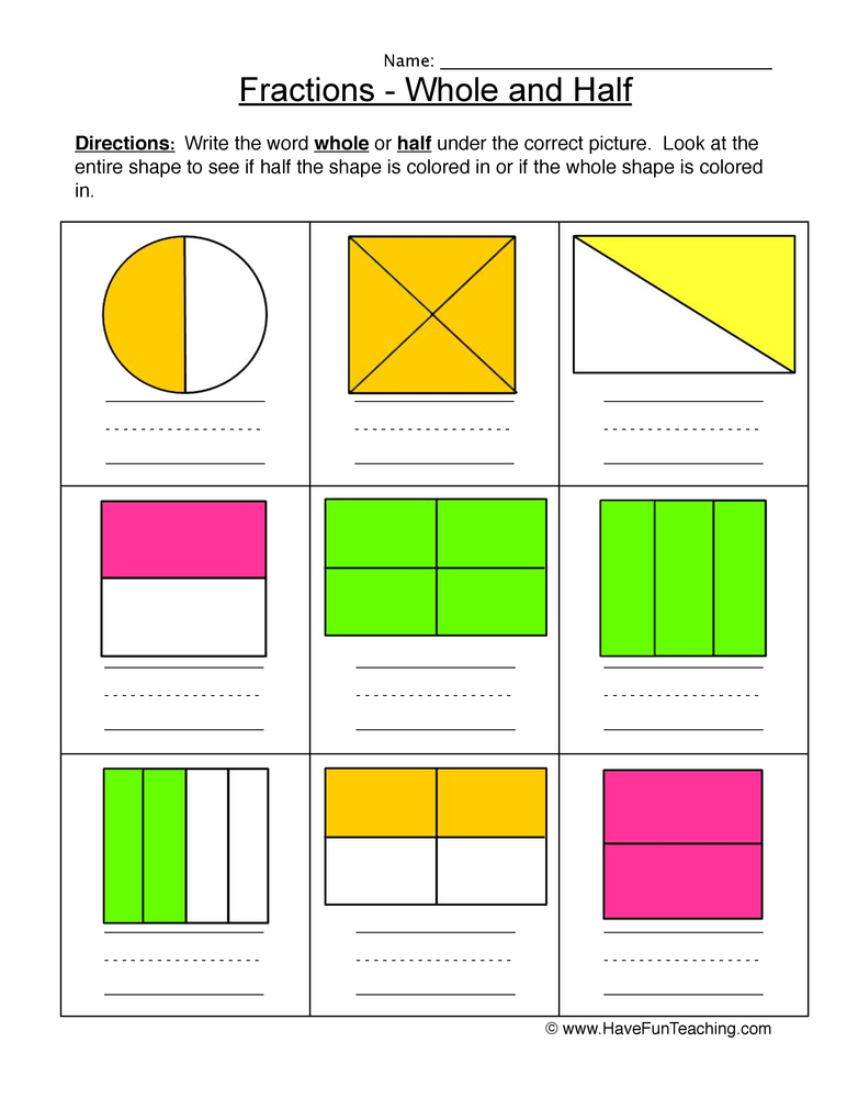 math worksheet : free fraction worksheets  have fun teaching : Fractions Worksheets Ks1