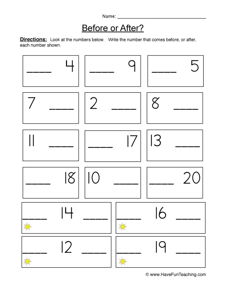 Sequence Worksheets - Have Fun Teaching